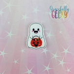 Little Ghost Smile Feltie ITH Embroidery Design 4x4 hoop (and larger)