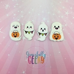 Little Ghosts finger puppet set - Embroidery Design