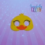 Mommy Duck Mask Embroidery Design - 5x7 Hoop or Larger