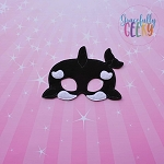 Orca Mask Embroidery Design - 5x7 Hoop or Larger