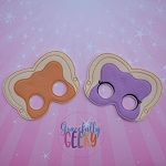 PB & J Mask Embroidery Design - 5x7 Hoop or Larger