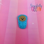 Beaver Sleeping Bag Feltie ITH Embroidery Design 4x4 hoop (and larger)
