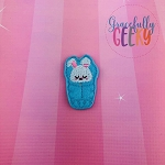 Bunny Sleeping Bag Feltie ITH Embroidery Design 4x4 hoop (and larger)
