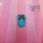 Wolf Sleeping Bag Feltie ITH Embroidery Design 4x4 hoop (and larger)