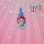 Rag Doll Ornament Embroidery Design - 4x4 Hoop or Larger