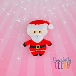 Santa Stuffed Doll Embroidery Design - 5x7 Hoop or Larger