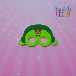 Sea Turtle Mask Embroidery Design - 5x7 Hoop or Larger