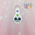 Sugarskull Scallop Eyes Snap Keychain ITH Embroidery Design - 5x7 Hoop or Larger