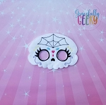 Sugarskull Spiderweb Mask Embroidery Design - 5x7 Hoop or Larger