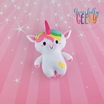 Unicorn Doll Stuffie Embroidery Design - 5x7 Hoop or Larger