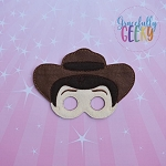 Cowboy Doll Toy Mask Embroidery Design - 5x7 Hoop or Larger