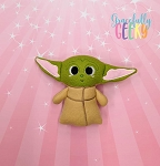 Baby Alien Stuffie Embroidery Design - 5x7 Hoop or Larger