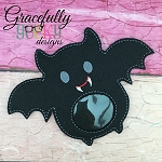 Bat candy pouch  ITH Embroidery Design 4x4 hoop (and larger)