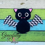 Bat Stuffie ITH Embroidery Design - 5x7 Hoop or larger