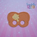 Buttered Toast Mask Embroidery Design - 5x7 Hoop or Larger