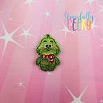 Candy Land Crew Grinch Feltie ITH Embroidery Design 4x4 hoop (and larger)