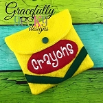 Felt Crayon pouch Holder Embroidery Design - 5x7 Hoop or Larger