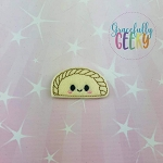 Empanada Feltie ITH Embroidery Design 4x4 hoop (and larger)