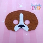 Beagle Mask  Embroidery Design - 5x7 Hoop or Larger