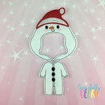 Boy Snowman Pajamas Dress Up Outfit ONLY - Embroidery Design 5x7 hoop or larger
