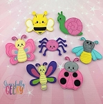Kawaii Bugs finger puppet set - Embroidery Design