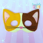 Calico Cat Mask  Embroidery Design - 5x7 Hoop or Larger