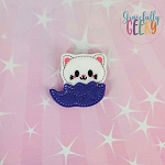 Cat in Egg Feltie ITH Embroidery Design 4x4 hoop (and larger)