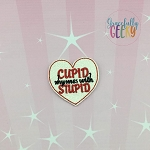 Cupid rhymes with stupid Feltie ITH Embroidery Design 4x4 hoop (and larger)