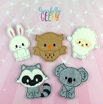 Cute Animal finger puppet set - Embroidery Design