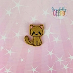 Cute Cat Feltie ITH Embroidery Design 4x4 hoop (and larger)