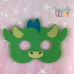 Cute Dragon Mask  Embroidery Design - 5x7 Hoop or Larger