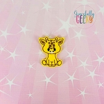 Cute Giraffe Feltie ITH Embroidery Design 4x4 hoop (and larger)