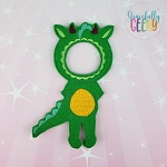 Girl Dragon Costume Dress Up Outfit ONLY - Embroidery Design 5x7 hoop or larger