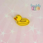 Duck Pool Floatie Feltie ITH Embroidery Design 4x4 hoop (and larger)
