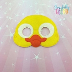 Duckling Mask  Embroidery Design - 5x7 Hoop or Larger