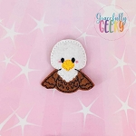 Eagle Feltie ITH Embroidery Design 4x4 hoop (and larger)