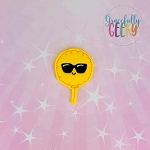 Cool Emoji Balloon  Feltie ITH Embroidery Design 4x4 hoop (and larger)