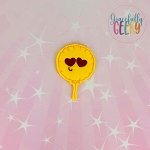 Love Emoji Balloon  Feltie ITH Embroidery Design 4x4 hoop (and larger)