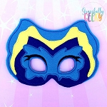 Flower Mask  Embroidery Design - 5x7 Hoop or Larger