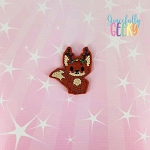Fox 3 Feltie ITH Embroidery Design 4x4 hoop (and larger)