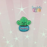 Free hugs Succulent Feltie ITH Embroidery Design 4x4 hoop (and larger)