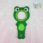 Girl Frog Costume Dress Up Outfit ONLY - Embroidery Design 5x7 hoop or larger