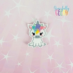Girly Floral Unicorn Feltie ITH Embroidery Design 4x4 hoop (and larger)