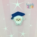 Graduation Lamb Feltie ITH Embroidery Design 4x4 hoop (and larger)