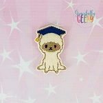 Graduation Llama Feltie ITH Embroidery Design 4x4 hoop (and larger)