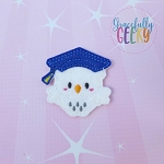 Graduation Owl Feltie ITH Embroidery Design 4x4 hoop (and larger)