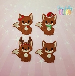 Fox finger puppet set - Embroidery Design