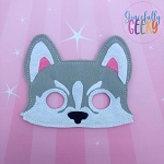 Husky Mask  Embroidery Design - 5x7 Hoop or Larger