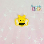 Kawaii bee 2 Feltie ITH Embroidery Design 4x4 hoop (and larger)