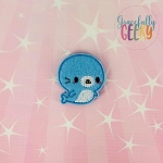 Kawaii Boy Seal Feltie ITH Embroidery Design 4x4 hoop (and larger)